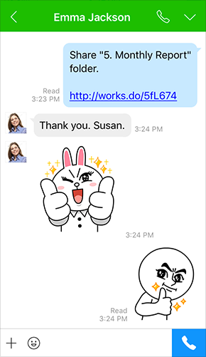 Business LINE stickers