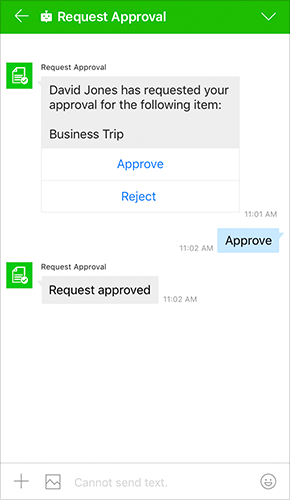 Request approval Bot (Sample)