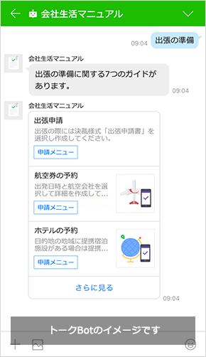 会社生活マニュアルBot (例)